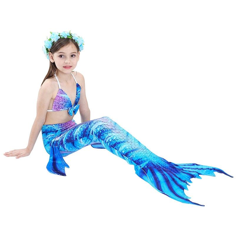 girls mermaid tail swimwear 1-6