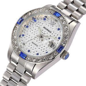 Image 2 - REGINALD Luxury Gold Mens Watches Unique Business Dress Wristwatch for Man Woman Clock Golden montre homme marque de luxe