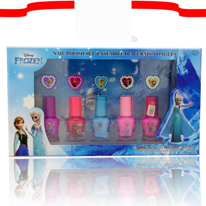 5pcs/lot Disney 2019 Children Nail Toys Set Children's Nail Polish Cartoon Washable Unscented Nail Oil