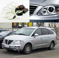 For SsangYong Rodius First generation 2004-2013 Excellent Ultra bright headlight illumination CCFL Angel Eyes kit Halo Ring
