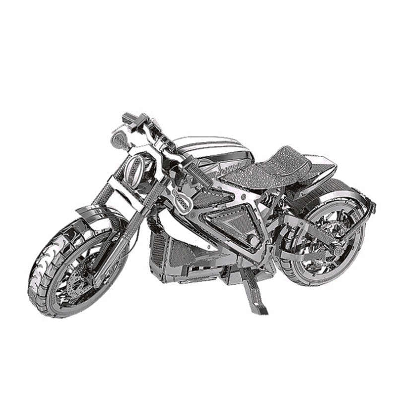 3D metal model puzzle motorcycle diy toy puzzle set stainless steel adult children model assembled education collection gift toy