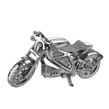 3D metal model puzzle motorcycle diy toy puzzle set stainless steel adult children model assembled education collection gift toy turtle ship puzzle toy 3d metal assembling model furnishings creative gifts diy education toys
