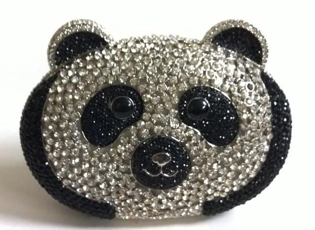 Top White And Black Crystal Clutch Panda Evening Bags Rhinestone Designer Handbags For Women Animal