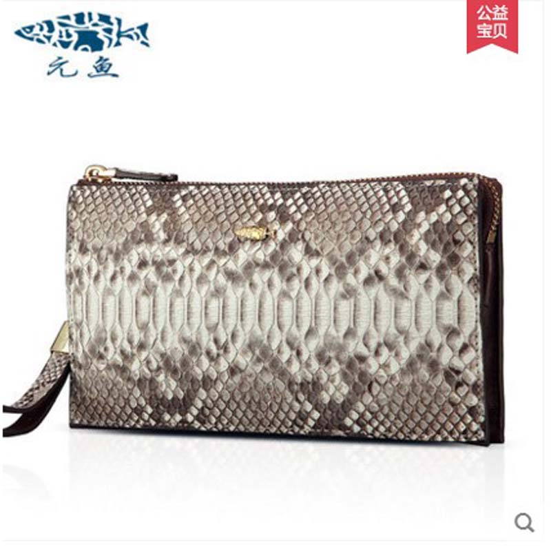 yuanyu 2018 new hot free shipping real Python leather women clutch women hand caught bag women bag long snake women day clutches yuanyu 2018 new hot free shipping python leather women purse female long women clutches women wallet more screens women wallet