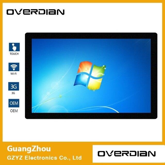 21.5 inch Win7 Systeem Enkele Touch1920 * 1080 Industriële Computer Huishoudelijke Embedded Computer ResistanceTouch Vliegtuig computer Screen