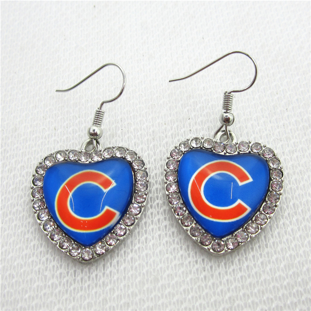 New 5pair Lot Baseball Team Chicago Cubs Earring For Fashion Jewelry Earrings Usa Sports