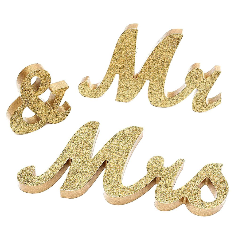 HOT SALE Mr & Mrs Sign Wedding Sweetheart Table Decorations for Wedding Photo Props Party Banner Decoration (Gold Glitter)HOT SALE Mr & Mrs Sign Wedding Sweetheart Table Decorations for Wedding Photo Props Party Banner Decoration (Gold Glitter)