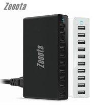 Zeoota Carregador de 10 Portas USB Carregador de Parede 60 W Área de Trabalho Mais Rápido carregadores para Smartphones e Tablets com o REINO UNIDO EUA AU UE plugue