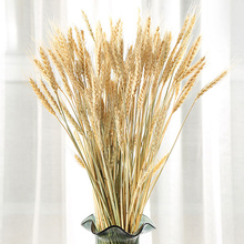 100pcs Artificial Natural Wheat Dried Flowers Bouquet Simulation Plant Living Room Decoration