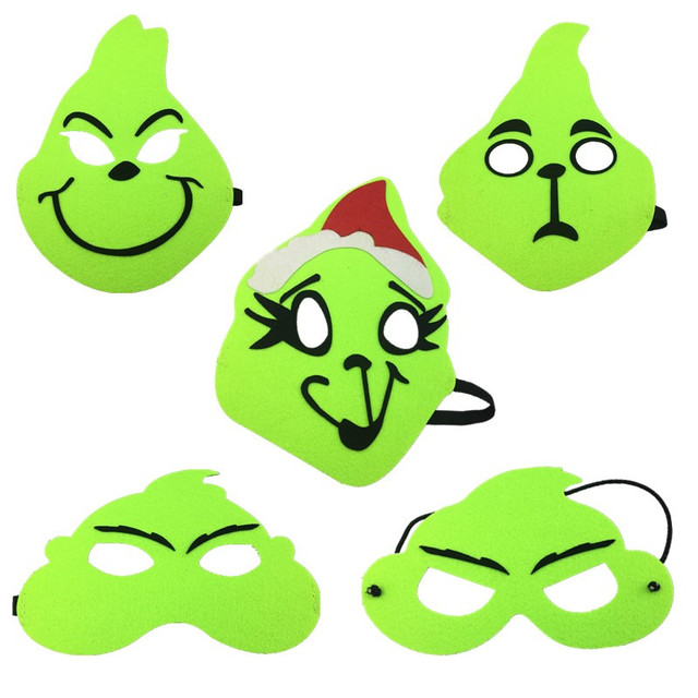 598a3d05e19b Grinch Cosplay Mask For Kids How the Grinch Stole Christmas Mask Boys Girls  Birthday Party Cosplay