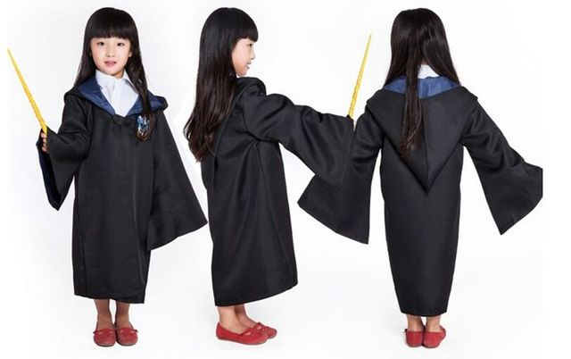 kids adult halloween harry potter costumes gryffindor ravenclaw slytherin hufflepuff hogwarts magic school cosplay cloaks robe