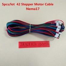 NEMA 17 шаговый двигатель кабель RepRap двигателя проводки Dupont 4PIN 6pin кабель 42 двигателя провода XH2.54 разъем NEMA17 провода 5 шт./лот