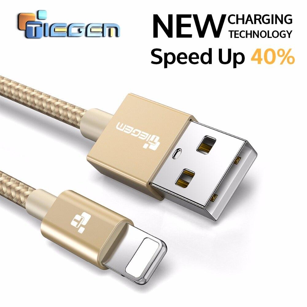 TIEGEM USB מטען כבל עבור iPhone 7 כבל מהיר מטען מתאם 8 פינים עבור iPhone 6 6 s בתוספת 5 5S SE iPad אוויר נייד טלפון כבלים