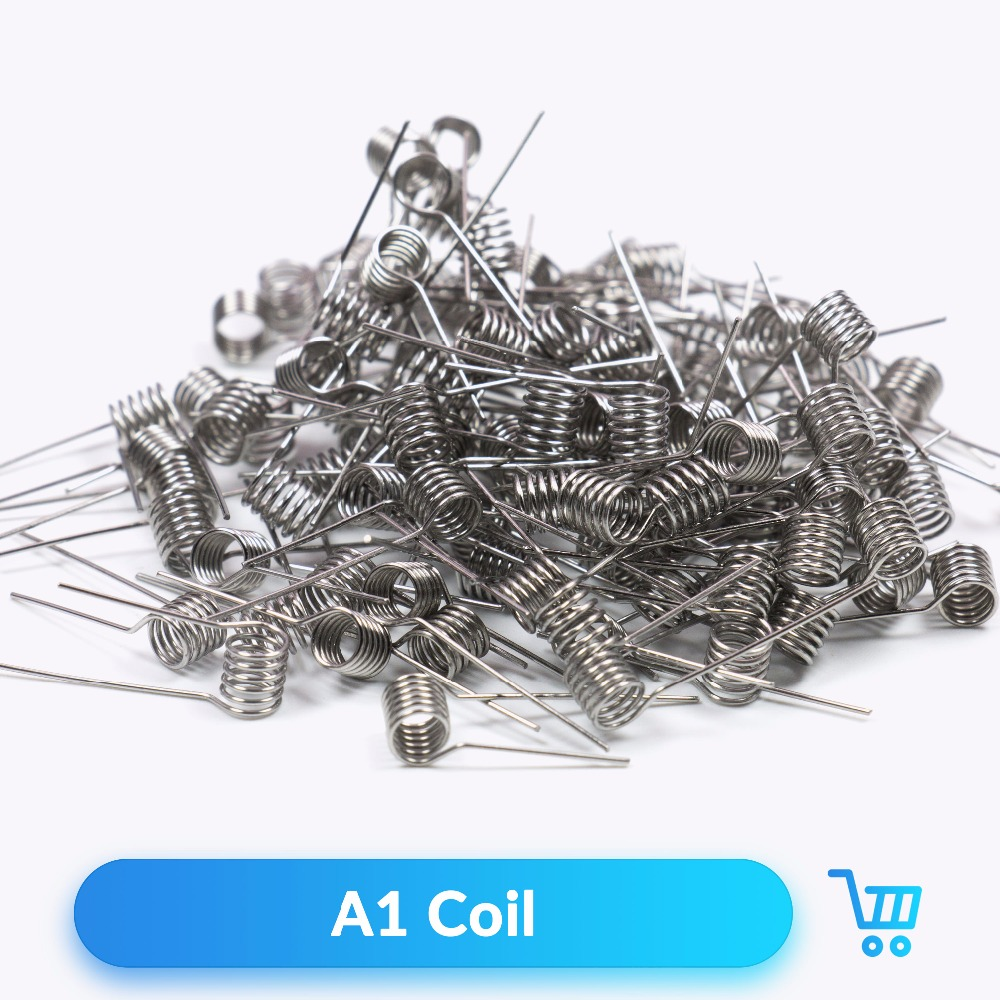 Volcanee 100pcs A1 Prebuilt Coil Heating Wire 22 24 26 28 30GA for RTA RDA Tank Vaporizador Mod Vape Accessories Premade Coil volcanee v2 rta single