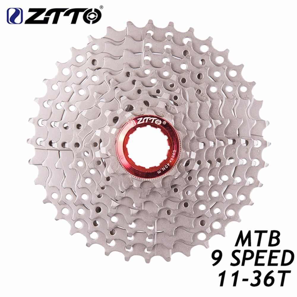 ZTTO 9 Speed 11-36T Mountain MTB Bike Cassette 9s 27s 36t Bicycle Sprocket Freewheel for Shimano M370 M430 M4000 M590 M3000