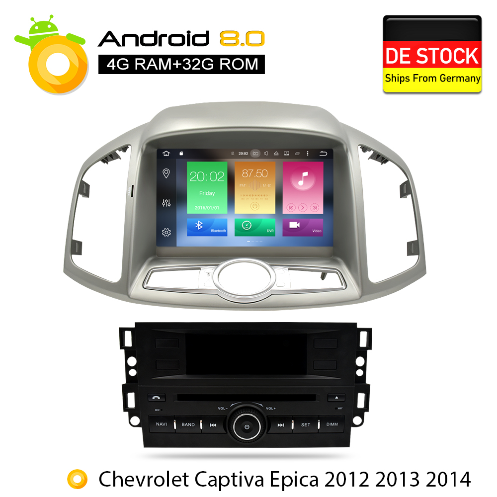 4G RAM Android 8 0 font b Car b font DVD Stereo For Chevrolet Captiva Epica