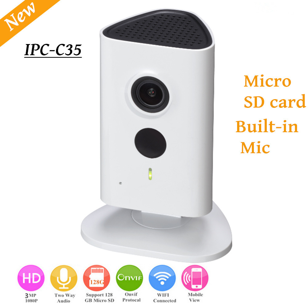 Newest Dahua 3mp Wifi Camera IPC-C35 HD 1080p Security Camera Support SD Card Up To 128GB Built-in Mic Wireless Camera