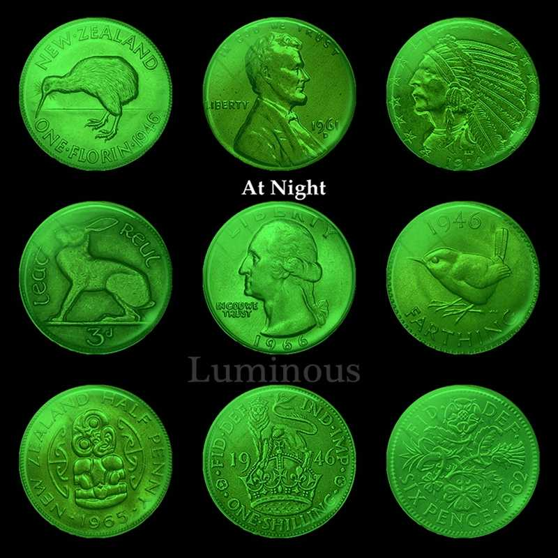 Imán de nevera con diseño de moneda luminosa Peculiar, moneda de 30 MM, cúpula de cristal, imanes para la nevera, soporte para notas, decoración del hogar