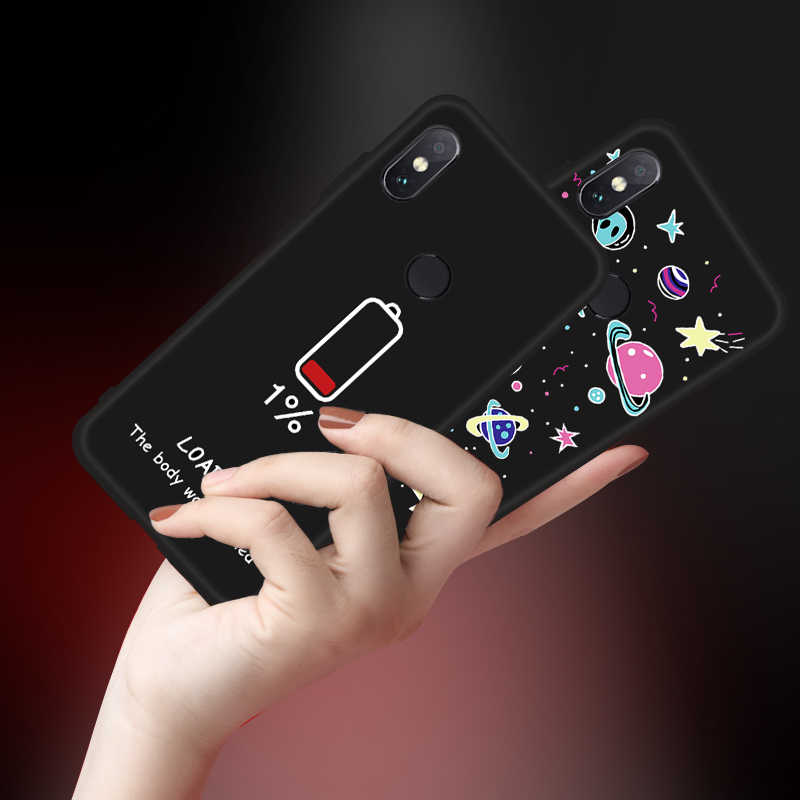 Silicone Case for Xiaomi Redmi Note 6 Pro 7 S2 6A 5 Plus Cute Pattern Painted Soft TPU Cover for Redmi Note 5 Pro 7 5A 4X Capa