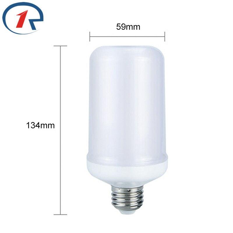 Zjright AC 85-265 В E27 6 Вт LED эффект пламени огня Лампочки уличные фонари пейзаж огни мерцающего эмуляции декор пламени лампы