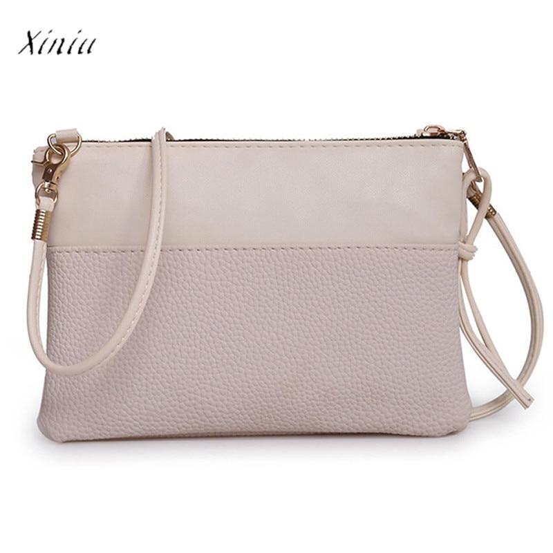 2017 Women Fashion Handbag Bolsas Feminina Shoulder Bag Tote Zipper Ladies Purse PU Leather Small Casual Messenger Bag  Сумка