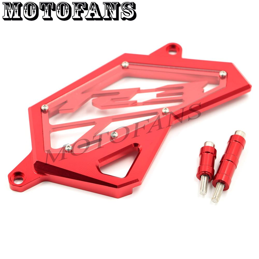 Motofans - Red CNC Aluminum Front Sprocket Chain Cover Case Guard Left Engine Protection for Yamaha R25 R3 2014 2015 2016 New cnc aluminum front sprocket cover chain guard cover for yamaha yzf r3 2015 2016