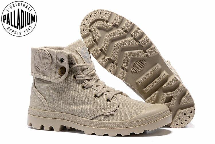 US $62.0 |PALLADIUM Pallabrouse Khaki Turn help Men Military Ankle Boots Canvas Casual Shoes Men Casual Shoes Eur Size 39 45 in Men's Casual Shoes