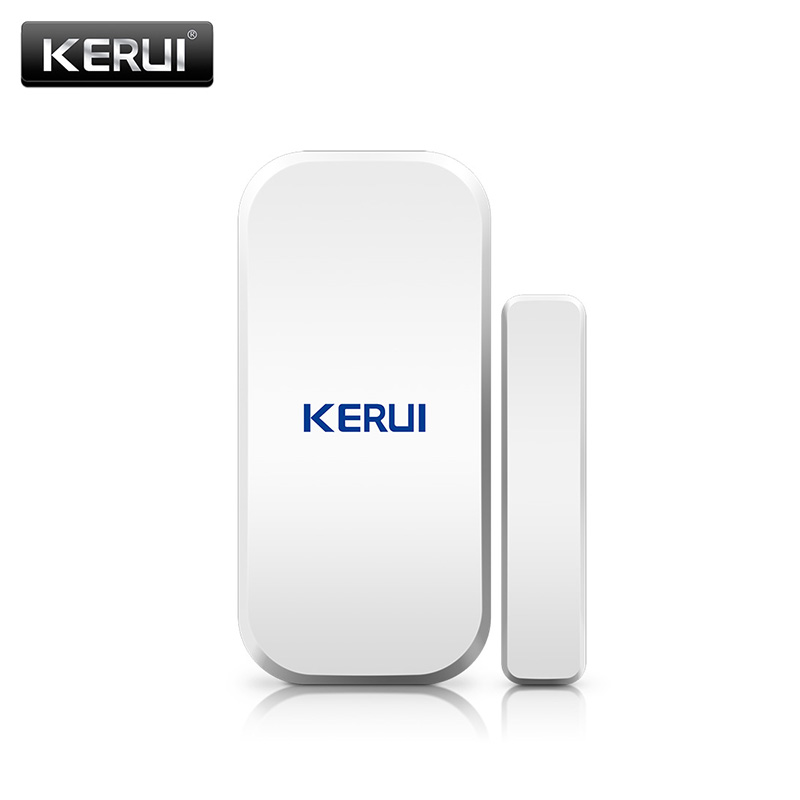 KERUI  433MHz Door Window Alarm Sensor Wireless Magnetic Switch Contact Detector Signaling for Intruder Security Alarm SystemKERUI  433MHz Door Window Alarm Sensor Wireless Magnetic Switch Contact Detector Signaling for Intruder Security Alarm System