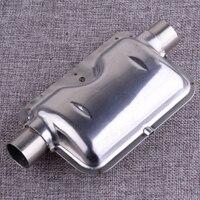 실버 스테인레스 스틸 자동차 히터 24mm 0.9 인치 배기 소음기 클램프와 디젤 머플러