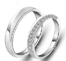 Sterling solide 925 bagues en argent anneaux de mariage bague de fiançailles pour femmes hommes 925 bande de mariage