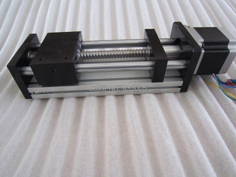CNC GGP 1610 ballscrew  Sliding Table Effective Stroke 500mm Guide Rail XYZ axis Linear motion+1pc nema 23 stepper  motor hgr20 linear guide width 20mm length 700mm with hgh20ca linear motion slide rail for cnc xyz axis 1pcs