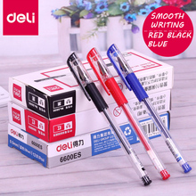 Deli Gel pen 12 Pcs 0.5mm Office supplies Stationery gel pens for students writing Black Red Blue High quality gel pen refills
