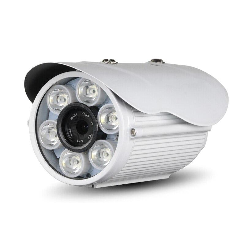 POE Audio HD 1080P outdoor white light full-color network IP camera 2.0MP metal security P2P 6 white lights tivoli audio songbook white sbwht