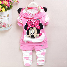 new fashion 2015 baby girl clothing set spring autumn Children coat pants suit kids cartoon clothing