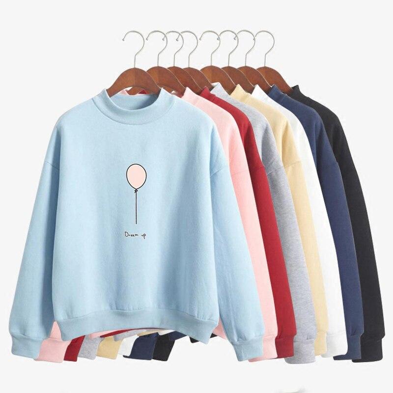 Fashion Spring Autumn Women Cute Hoodies Casual Harajuku Sweatshirt Pullover Candy Moletom Feminino Coats Jacket Outwear Tops