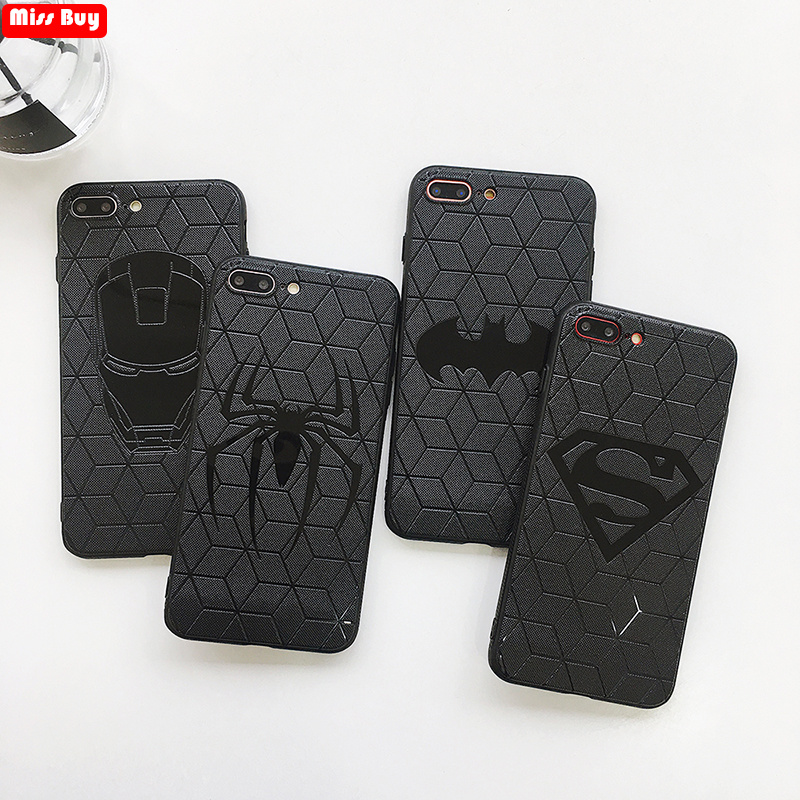 Marvel Avengers Captain America Shield Superhero Case for iPhone 6 6s 7 8 Plus X 10 Silicone Rubber Cover Ironman Comic Fundas marvel glass iphone case