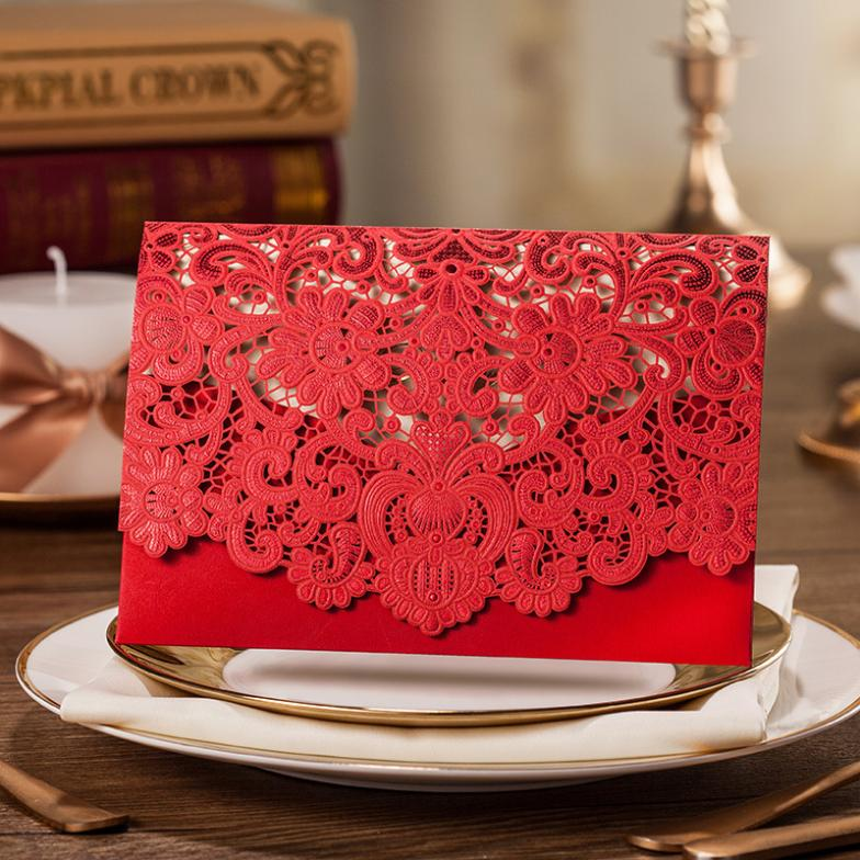 Online Get Cheap Wedding Invitations Red White Aliexpress – Red and White Wedding Invitations