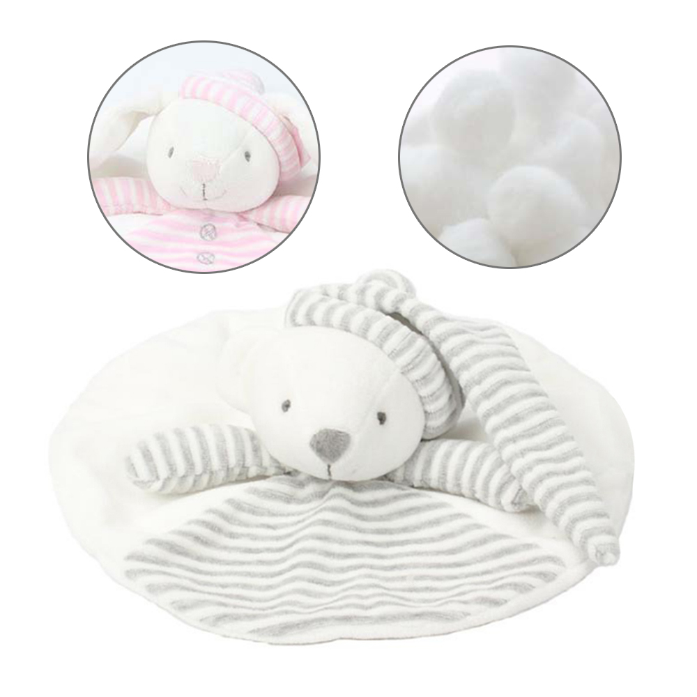 Newborn Baby Soft Rattles Sleep Plush Toy Appease Towel Cute Bear Comforting Rattles Crap Doll Gift Educational Toy