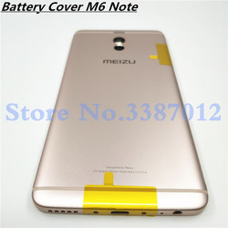 M6Note Original Housing For Meizu M6 Note Metal Battery Back Cover Mobile Phone Replacement Parts Case + Buttons Lens