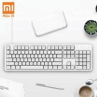 Original XiaoMi Keyboard Yuemi MK06C 104Keys NKRO Cherry Red Switch USB Wired Mechanical Keyboard PBT Keycaps for Windows Mac Os