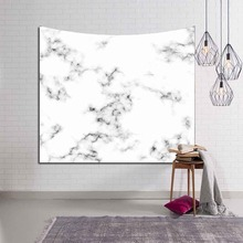 Marble Print Tapestry Pink and Golden Nordic Wall Hanging Tenture Mural Modern Dorm Room Decor Geometric Yoga Carpet Blanket