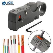 Alicate para descascar cabos, descascador de fios de aço inoxidável, nariz redonda, ferramentas para cabos elétricos