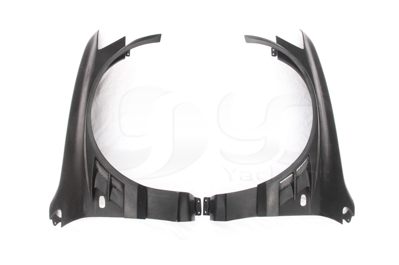 2001-2007 Mitsubishi Lancer Evolution 7-9 Voltex Cyber Version Style +20mm Front Fender with Flare FRP (2)