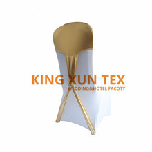 Gold Bronzing Coated Lycra Spandex Chair Hood \ Chair Cap For Banquet Wedding Chair Cover Decoration  sc 1 st  AliExpress.com & Buy chair caps for weddings and get free shipping on AliExpress.com