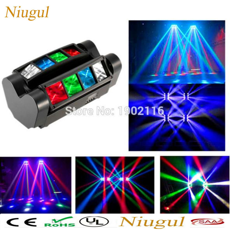 Niugul LED Scan lights/8x10W Mini Led Spider Light/RGBW Led Party Lamp/DJ club bar Lighting /DMX512 LED Beam Moving Head light new stage lights led full color spider lamp eight eyes beam of light the effect of light bar eight head lamp light beam dj