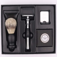 Titan razor double edge safety razor set with brush soap free shipping razor set