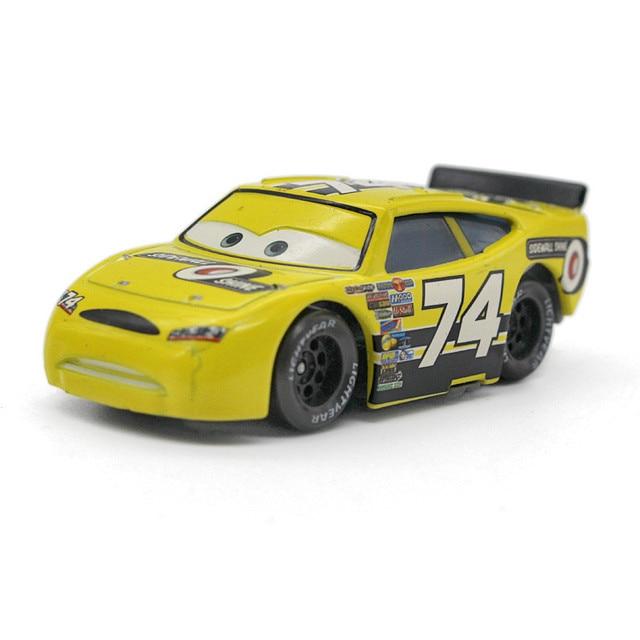 Pixar Cars Macqueen Racing Car Yellow No 74 Sidewall Shine Disney