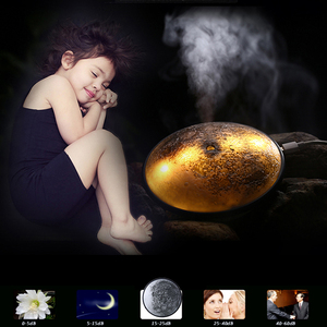 Mini USB Portable Ultrasonic Moon Air Humidifier Essential Oil Aroma Diffuser Mist Maker Led Light For Home Office Car