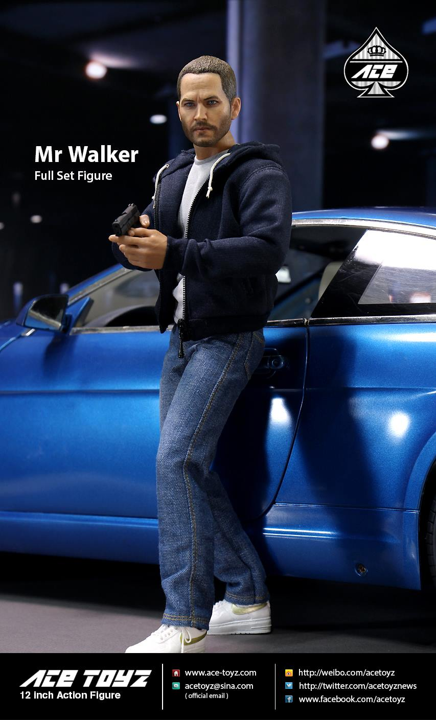 "1/6 scale figure doll Fast & Furious Paul Walker Brian.12"" action figure doll.Collectible figure model toy,car not include"