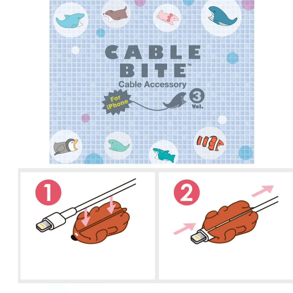 100 Pcs Cute Animal bite Lovely Anti Break USB Data Cable Protector Cable Winder Saver for iPhone Charger Cable Cord Cover in Cable Winder from Consumer Electronics